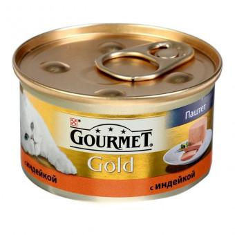 GOURMET GOLD / влажный корм для кошек / ИНДЕЙКА / ПАШТЕТ