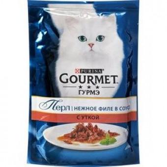 GOURMET / PERL / влажный корм для кошек / УТКА / мини филе