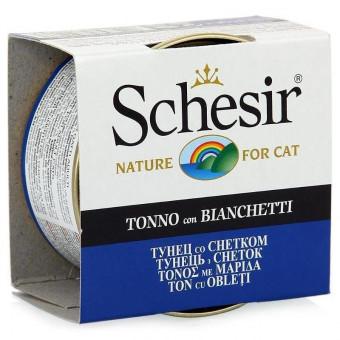 SCHESIR / влажный корм для кошек / ТУНЕЦ / СНЕТКИ