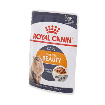 ROYAL CANIN / INTENSE BEAUTY / влажный корм для кошек /  МЯСО ПТИЦЫ / СОУС
