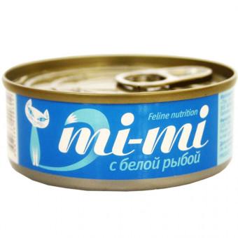 MI-MI / влажный корм для кошек / ТУНЕЦ  / БЕЛАЯ РЫБА
