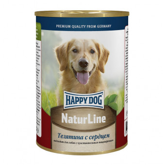 HAPPY DOG / влажный корм для собак / ТЕЛЯТИНА / СЕРДЦЕ