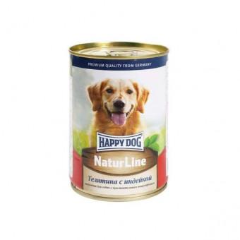 HAPPY DOG / влажный корм для собак / ТЕЛЯТИНА / ИНДЕЙКА