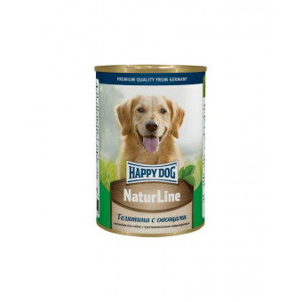 HAPPY DOG / влажный корм для собак / ТЕЛЯТИНА / ОВОЩИ