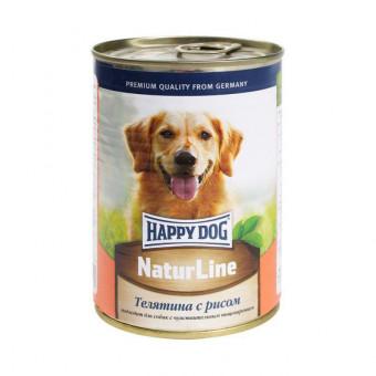 HAPPY DOG / влажный корм для собак / ТЕЛЯТИНА / РИС
