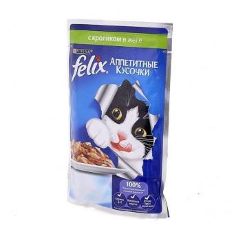 FELIX / влажный корм для кошек / КРОЛИК / ЖЕЛЕ