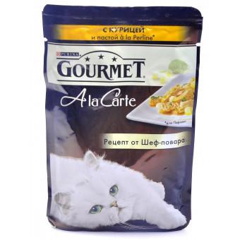 GOURMET / A LA CARTE / влажный корм для кошек / КУРИЦА / ПАСТА / ШПИНАТ