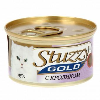 STUZZY GOLD / влажный корм для кошек / КРОЛИК / МУСС