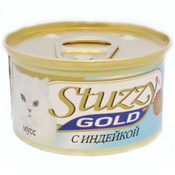 STUZZY GOLD / влажный корм для кошек / ИНДЕЙКА / МУСС
