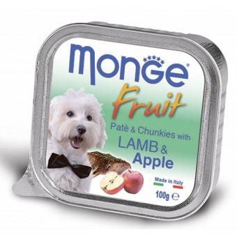 MONGE DOG / FRUIT / влажный корм для собак / ЯГНЕНОК / ЯБЛОКИ