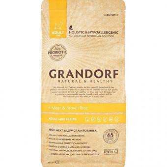 GRANDORF PROBIOTIK/ сухой корм для собак мини пород 4 вида мяса / ЯГНЕНОК / ИНДЕЙКА / УТКА / КРОЛИК