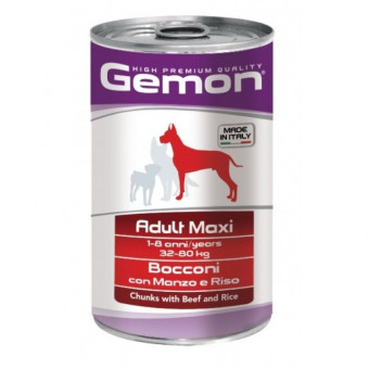 GEMON / влажный корм для собак крупных пород / ГОВЯДИНА / РИС