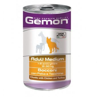 GEMON / влажный корм для собак средних пород / КУРИЦА / ИНДЕЙКА