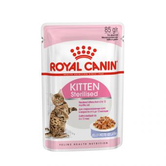 ROYAL CANIN / KITTEN STERILISED / влажный корм для котят /  МЯСО ПТИЦЫ / ЖЕЛЕ