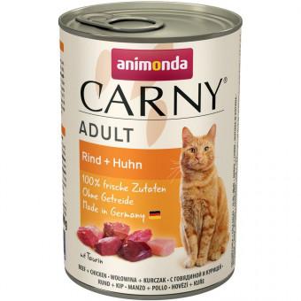 ANIMONDA / CARNY ADULT / влажный корм для кошек / ГОВЯДИНА / КУРИЦА