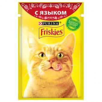 FRISKIES / влажный корм для кошек / С ЯЗЫКОМ