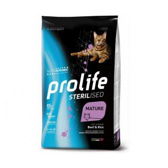 PROLIFE / STERILISED / MATURE / сухой корм для пожилых стерил. кошек / ГОВЯДИНА / РИС