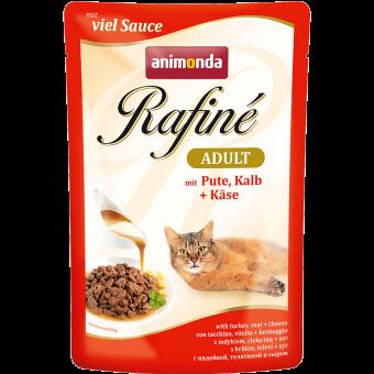 ANIMONDA / RAFINE ADULT / влажный корм для кошек / ИНДЕЙКА / ТЕЛЯТИНА / СЫР