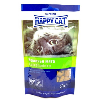 HAPPY CAT / ХРУСТЯЩИЕ ПОДУШЕЧКИ / КОШАЧЬЯ МЯТА / лакомство для кошек