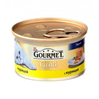 GOURMET GOLD / влажный корм для кошек / КУРИЦА / ПАШТЕТ