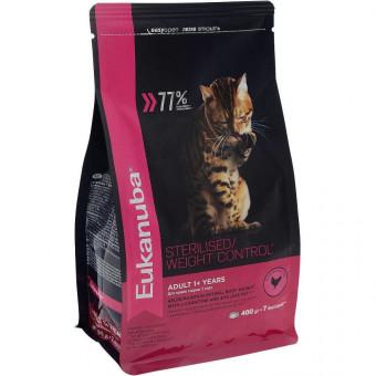 EUKANUBA / STERILISED / WEIGHT CONTROL / сухой корм для стерилизованных кошек / ДОМАШНЯЯ ПТИЦА