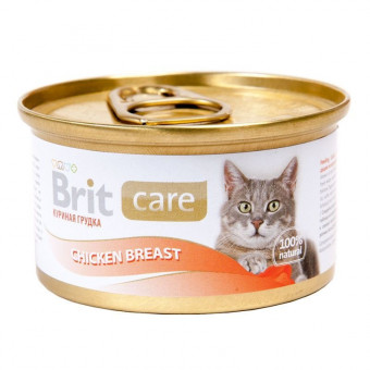 BRIT / влажный корм для кошек / КУРИЦА