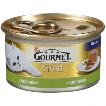 GOURMET GOLD / влажный корм для кошек / КРОЛИК / ПАШТЕТ