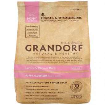 GRANDORF / сухой корм для щенков / ЯГНЕНОК / РИС