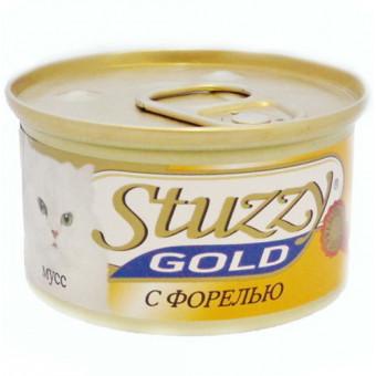 STUZZY GOLD / влажный корм для кошек / ФОРЕЛЬ / МУСС