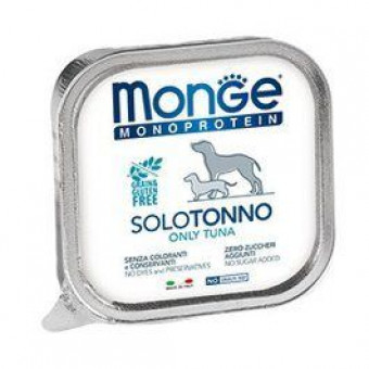 MONGE DOG / MONOPROTEIN SOLO / влажный корм для собак / ТУНЕЦ / ПАШТЕТ