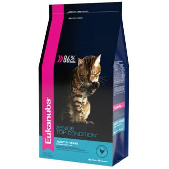 EUKANUBA / TOP CONDITION / SENIOR 7+ / сухой корм для пожилых кошек / ДОМАШНЯЯ ПТИЦА
