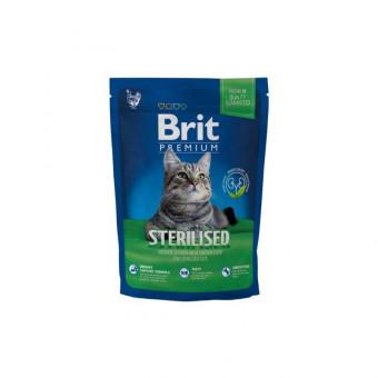 BRIT / PREMIUM ADULT STERILISED / сухой корм для стерилизованных кошек / КУРИЦА / ПЕЧЕНЬ