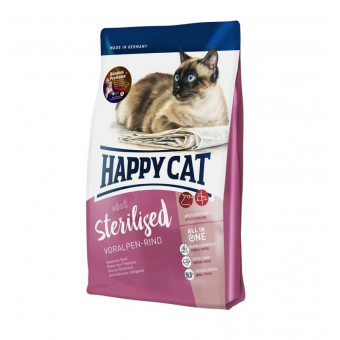 HAPPY CAT / STERILISED / сухой корм для стерилизованных кошек / АЛЬПИЙСКАЯ ГОВЯДИНА