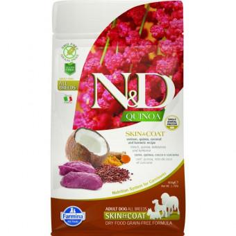 FARMINA N&D / GF / QUINOA / SKIN & COAT / сухой корм для собак / ОЛЕНИНА