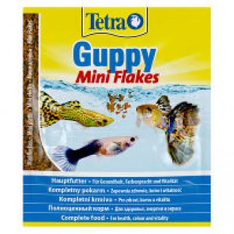 TETRA / GUPPY / MINI FLAKES / корм для гуппи и всех живородящих рыб