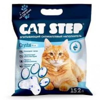 CAT STEP / cиликагелевый наполнитель / CRISTAL BLUE
