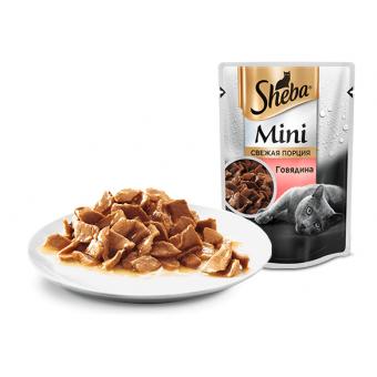 SHEBA MINI / влажный корм для кошек /  мини порция / ГОВЯДИНА
