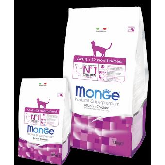 MONGE / сухой корм для кошек  / КУРИЦА
