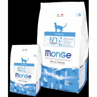 MONGE / URINARY / сухой корм для кошек / профилактика МКБ / КУРИЦА