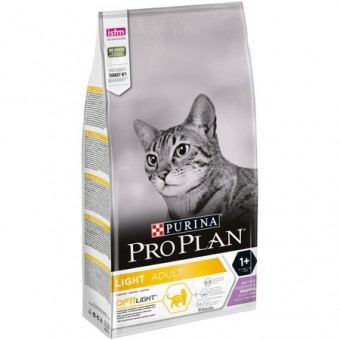 PRO PLAN / ADULT LIGHT / сухой облегченный корм для кошек / ИНДЕЙКА
