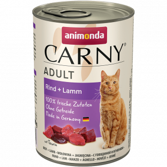 ANIMONDA / CARNY ADULT / влажный корм для кошек / ГОВЯДИНА / ЯГНЕНОК