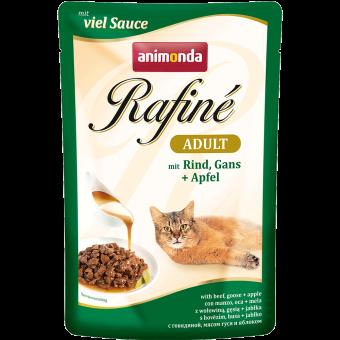 ANIMONDA / RAFINE ADULT / влажный корм для кошек / ГОВЯДИНА / МЯСО ГУСЯ / ЯБЛОКО