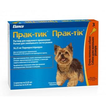 ELANCO / ПРАКТИК / капли от блох и клещей для собак / 2-4,5 кг