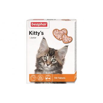 BEAPHAR / KITTYS / JUNIOR / витаминное лакомство для котят / сердечки с биотином